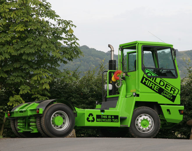 An example of one of over 120 shunter tugs available from Gilder Hire